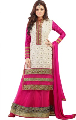 Zohraa Net Printed Semi stitched Salwar Suit Dupatta Material available at Flipkart for Rs.4749
