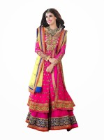 Anwesha Net Printed Suit Fabric Fabric Unstitched
