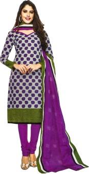 Jevi Prints Cotton Floral Print Salwar Suit Dupatta Material Un-stitched