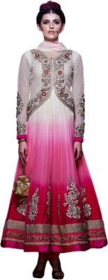 Hypnotex Net Self Design Salwar Suit Dupatta Material Unstitched