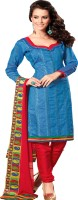 Rati Fashions Cotton Solid Salwar Material Fabric Unstitched