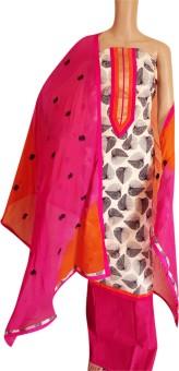 Kunal's Kota Silk Cotton, Chiffon Polka Print, Embroidered, Floral Print, Geometric Print, Applique Suit Fabric, Kurta & Churidar Material, Salwar Suit Material, Salwar Suit Dupatta Material Un-stitched