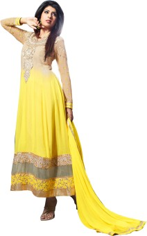 Lineysha Boutique Georgette, Crepe, Chiffon Solid, Solid, Solid Semi-stitched Salwar Suit Dupatta Material Unstitched