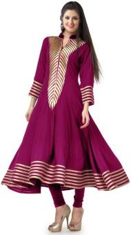Khantil Cotton Embroidered Kurti Fabric Unstitched