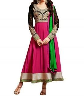 Fashion Bazar Georgette Embroidered Semi-stitched Salwar Suit Dupatta Material Unstitched