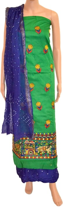 Fabrics Of India Cotton Printed Dress/Top Material - Unstitched - FABDWMREYHZ8GZCG