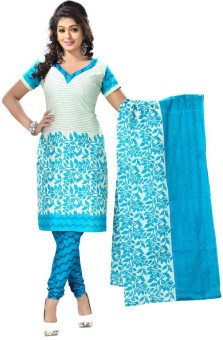 Vaamsi Cotton Floral Print Dress/Top Material Unstitched