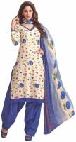 Hi-Fashion Cotton Floral Print Dress/Top Material - Unstitched