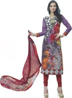 Indiweaves Cotton Printed Semi-stitched Salwar Suit Dupatta Material - Unstitched - FABEYCFVZWCJVZE9