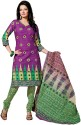 Fabdeal Cotton Polka Print Salwar Suit Dupatta Material Fabric - Unstitched - FABDUYAGKDCZMZFE