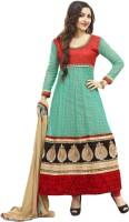 Adah Fashions Georgette Floral Print Semi-stitched Salwar Suit Dupatta Material - Unstitched - FABDYG8ZZGZWJZHQ