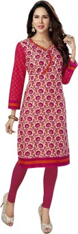 Stylish Girls Cotton Printed Kurti Fabric Un-stitched