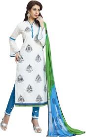 Fabliva Cotton Embroidered Salwar Suit Dupatta Material