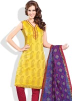 Shah Wah Cotton Printed Salwar Material Fabric Unstitched