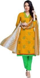 Fabliva Cotton Embroidered Suit Fabric