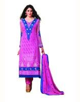 Aanara Georgette Floral Print Semi-stitched Salwar Suit Dupatta Material Fabric - Unstitched - FABDVV4NQ4Q6ZZW9