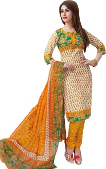 Salwar Studio Cotton Printed Salwar Suit Dupatta Material (Unstitched)