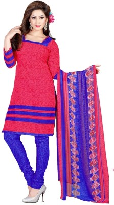 Vineberi Cotton Printed Dress/Top Material Unstitched