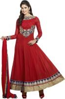 Adah Fashions Georgette Floral Print Semi-stitched Salwar Suit Dupatta Material - Unstitched