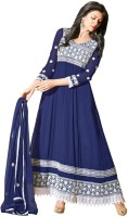 Dhanufashion Georgette Solid Semi-stitched Salwar Suit Dupatta Material - Unstitched - FABEY7H2V6WMFZZZ