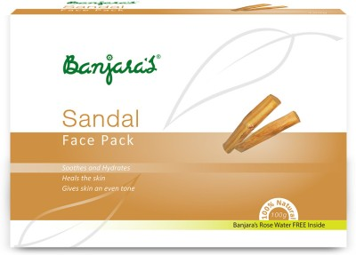 Banjaras Banjaras Face Pack Sandal Powder (Brown)