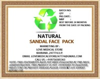 Natural Sandal Face Pack (150 G)