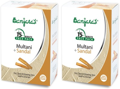 Banjaras Banjaras Multani With Sandal 100Gms Set Of 2 Packs (Brown)
