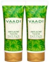 Vaadi Anti-acne Neem Face Pack With Clove & Turmeric - Pack Of 2
