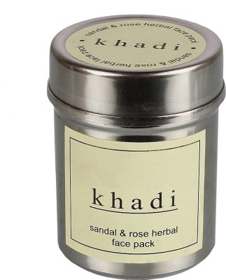 Khadi Khadi Sandal & Rose Herbal Face Pack (Brown)