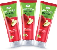 Joy Skin Fruits Gentle Care(Apple) Pack Of 3 Face Wash (150 Ml)