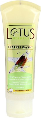 Lotus Herbals Tea Tree & Cinnamon Anti Acne Oil Control Face Wash 80 g