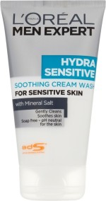 L 'Oreal Paris Face Washes L 'Oreal Paris Men Expert Hydra Sensitive Soothing Cream Wash Large Size Face Wash