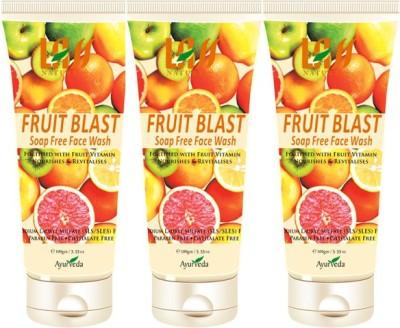 Lass Naturals Fruit Blast Face Wash Combo ( Set Of 3 ) Face Wash (300 G)