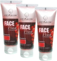 Oxyglow Strawberry Pack Of 3 Face Wash (300 Ml)