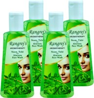 Rangrej's Aromatherapy Neem Tulsi With Aloevera Pack Of 4 Face Wash (400 Ml)