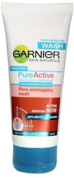 Garnier Face Washes Garnier Skin Naturals Pure Active Pore Unclogging Face Wash