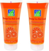 Astaberry Orange Scrub Pack Of 2 Face Wash (200 G)