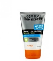 L'Oreal Paris Men Expert White Active Bright+Oil Control Foam Face Wash (100 Ml)
