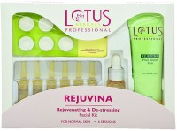 Lotus Herbals Professional Rejuvinating & De-Stressing Facial Kit 80 G (Set Of 4)