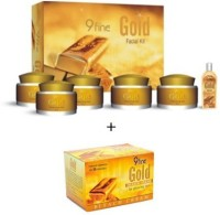 9 Fine Gold Facial Kit+Free Gold Bleach Cream 270 G (Set Of 2)