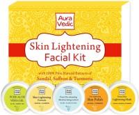 Auravedic Skin Lightening Facial Kit 250 Ml (Set Of 5)