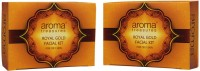 Aroma Treasures Royal Gold Facial Kit For Oily Skin - Single Time Use (pack Of 2) 80 G (Set Of 1)