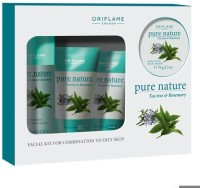Oriflame Pure Nature Tea Tree And Rosemary Facial Kit For Combination To Oily Skin 425 G (Set Of 4)