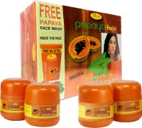 Nature's Essence Papaya Facial Kit - Mini Pack(180 G + Free 65 Ml Face Wash) 245 G (Set Of 5)