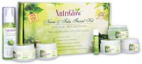 NutriGlow Neem & Tulsi Facial Kit With Free NutriGlow Green Apple Skin Toner 430 G (Set Of 7)