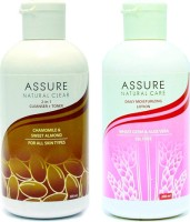 Assure Natural Clear (Cleanser + Toner) & Moisturising Lotion 400 Ml (Set Of 2)