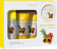 Oriflame Sweden Pure Nature Tropical Fruits Facial Kit 150 Ml (Set Of 4)
