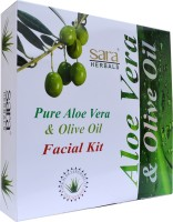 Sara Pure Aloe Vera & Olive Oil Facial Kit (Set Of 5)