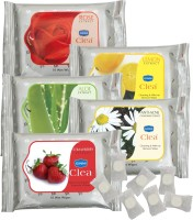 GINNI Premium Facial Tissue ( Rose,Aloevera,Lemon,Strawberry,Antiacne) (pack Of 5) (10 Wipes Per Pack) & 50 Coin Tissue (candy Pack) (Pack Of 12)