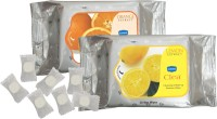 GINNI Refreshing Facial Tissues-( Lemon & Orange)(pack Of 2) (30 Wipes Per Pack) & 50 Coin Tissues(each In Candy Pack) (Pack Of 9)